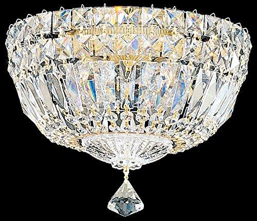 (Schonbek 5891-40S Swarovski Lighting Petit Crystal Deluxe Flush Mount, Silver)