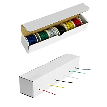 houseables electrical wire kit, solid hook up electric wiring, 6 x 22 gauge  spools