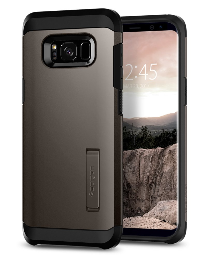Spigen Tough Armor Galaxy S8 Case with Reinforced Kickstand and Heavy Duty Protection and Air Cushion Technology for Samsung Galaxy S8 (2017) - Gunmetal by Spigen (Image #3)