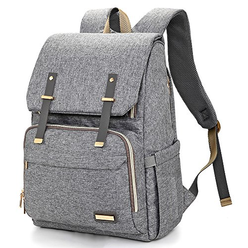 Nappy Changing Bag Backpack - Large Diaper Bags Multi-Function Waterproof...
