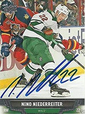 Nino Niederreiter Signed Auto 2013 Minnesota Wild Card - COA - NHL - Upper Deck Certified - Hockey Slabbed Autographed Cards