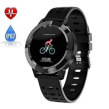 Qwhome CF58 Smart Wristband Multisport Y Reloj para Correr con Frecuencia Cardíaca Elevada Y Notificaciones Inteligentes,Black: Amazon.es: Deportes y aire ...