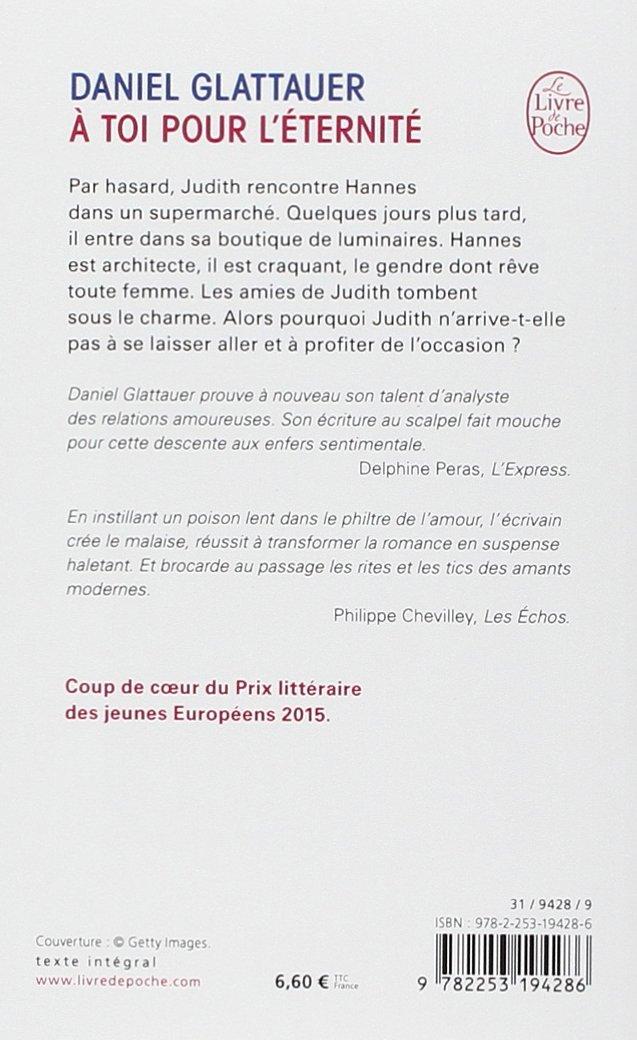 A Toi Pour L éternité Glattauer Daniel 9782253194286 Amazon Com Books