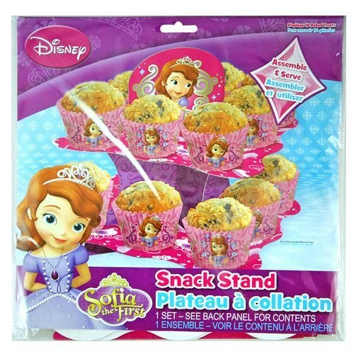 Disney Princess Sofia the First 2 Tier Cupcake Stand - Tiered Snack, Treat Stand, Birthday Party, Centerpiece, Cake (Sofia The First Cupcake Stand)