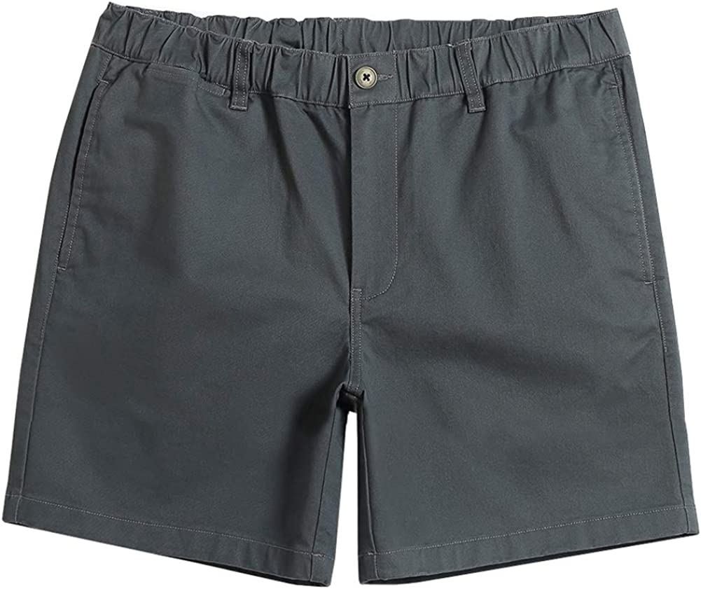 """MaaMgic Men's Classic-fit 5.5"""" Stretch Cotton Casual Shorts with Elastic Waistband, Multi-Pocket Hybrid Walk Short"""