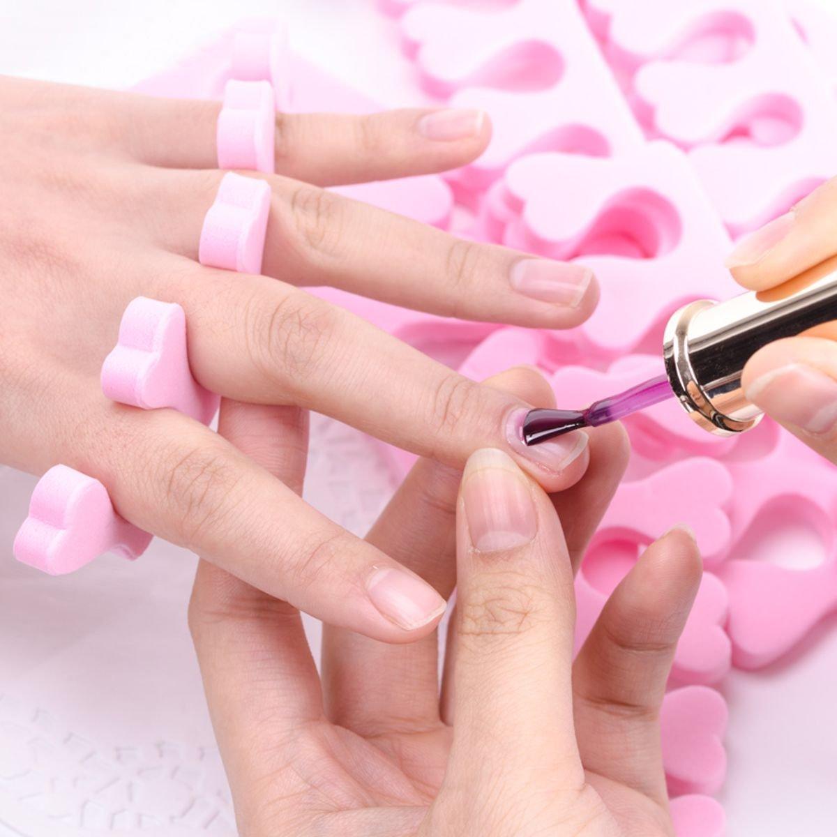 'Toe Spreader (Foam Toe Separator)–20(10Pairs)–Pink LBC LBC-4534