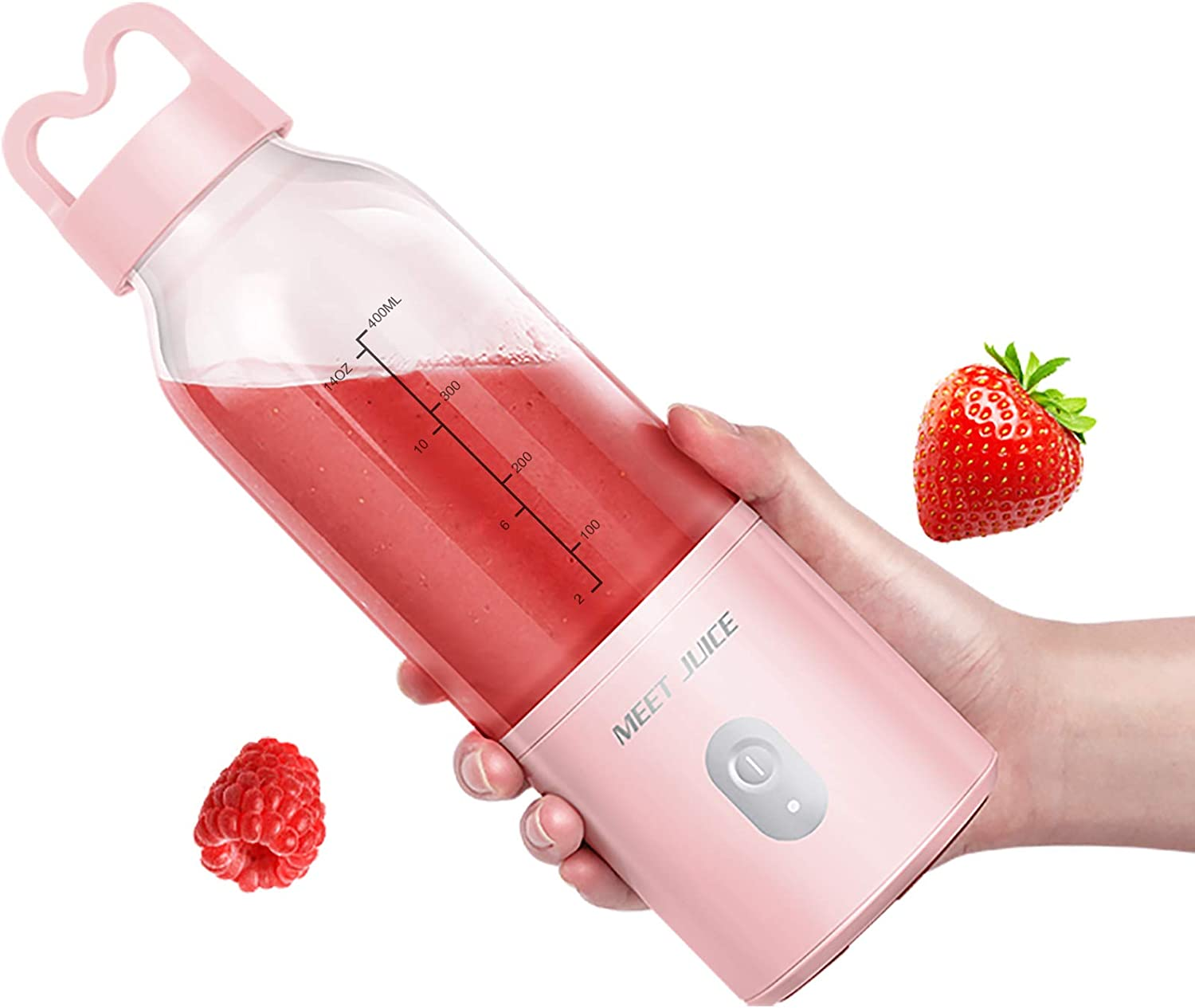 MEET JUICE Portable Blender Personal Size with USB Wire Rechargeable Mini Blender Good Choice Making Shakes and Smoothies