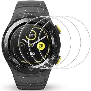 AFUNTA Protector de Pantalla para Huawei Watch 2, 3 Pack de películas de protección de