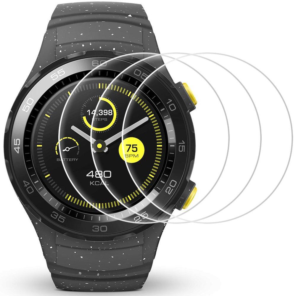 Protector de pantalla para Huawei Watch AFUNTA Pack de películas de protección