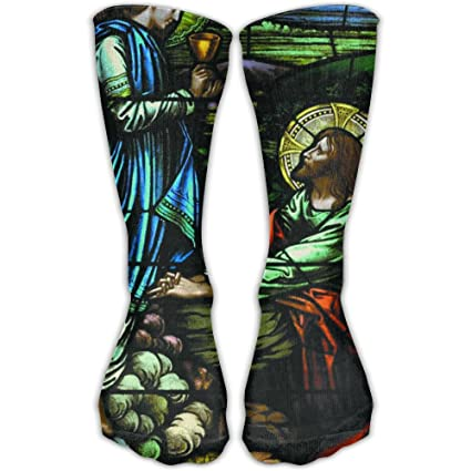 5350d47dcbe Amazon.com  Religious Christians Printed Men s Women s 11.8 Inch Sport  Athletic Stockings Casual Elastic Socks Compression Socks  Sports   Outdoors