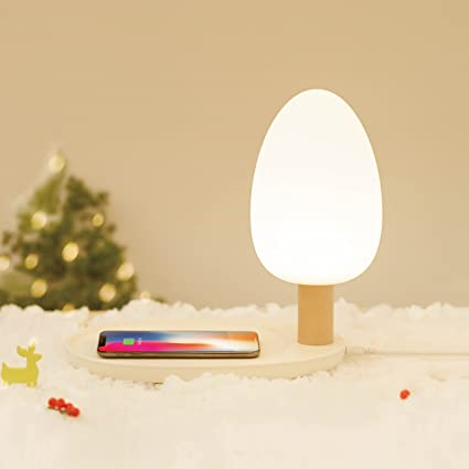 EMOI Wireless QI Charging Pad Table Lamp For IPhone X, IPhone 8/8 Plus