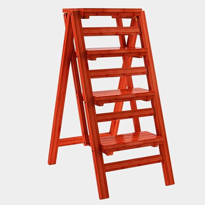 Geyao Escalera multifunción Taburete Hogar Madera maciza IKEA Niños Silla plegable Provincia Espacio Escalera de cuatro pasos de doble uso Ascendente Escalera Color 42 × 67 × 92 cm: Amazon.es: Bricolaje y herramientas