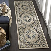 Safavieh Evoke Collection EVK518C Oriental Medallion Beige and Navy Runner (2 x 8)