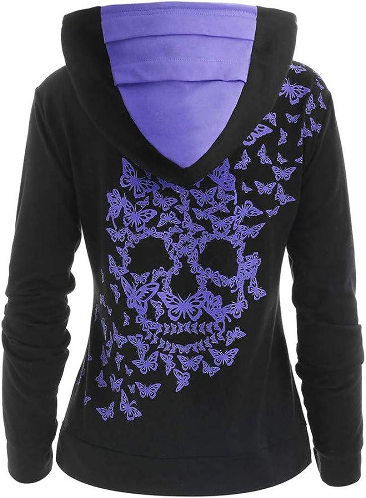WSPLYSPJY Women Long Sleeves Graphic Print Casual Pullover Sweatshirt