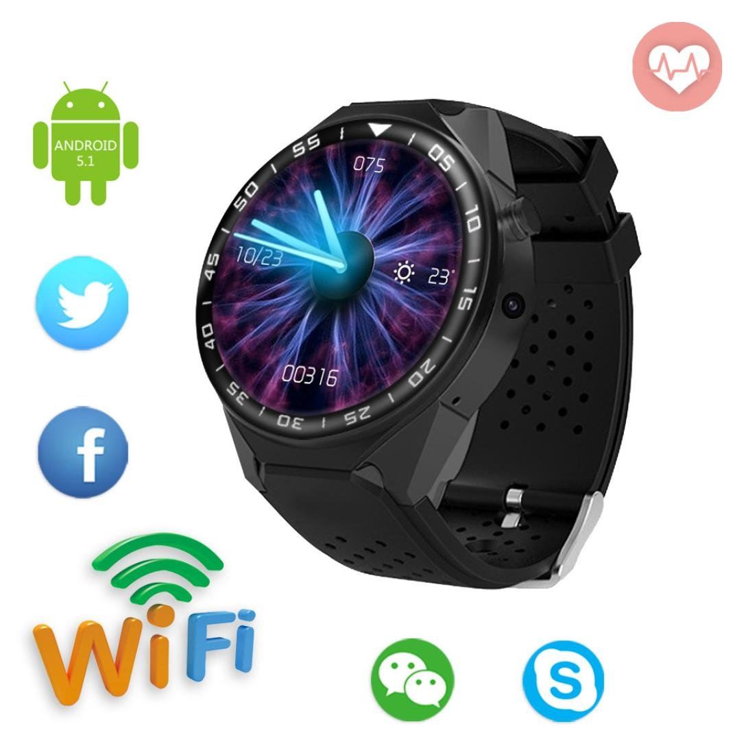 Amazon.com: LtrottedJ Smart Watch S99C1 GSM 1G+16G Quad Core Android 5.1 Smart Watch With 5.0 MP Camera Use WiFi (A): Sports & Outdoors