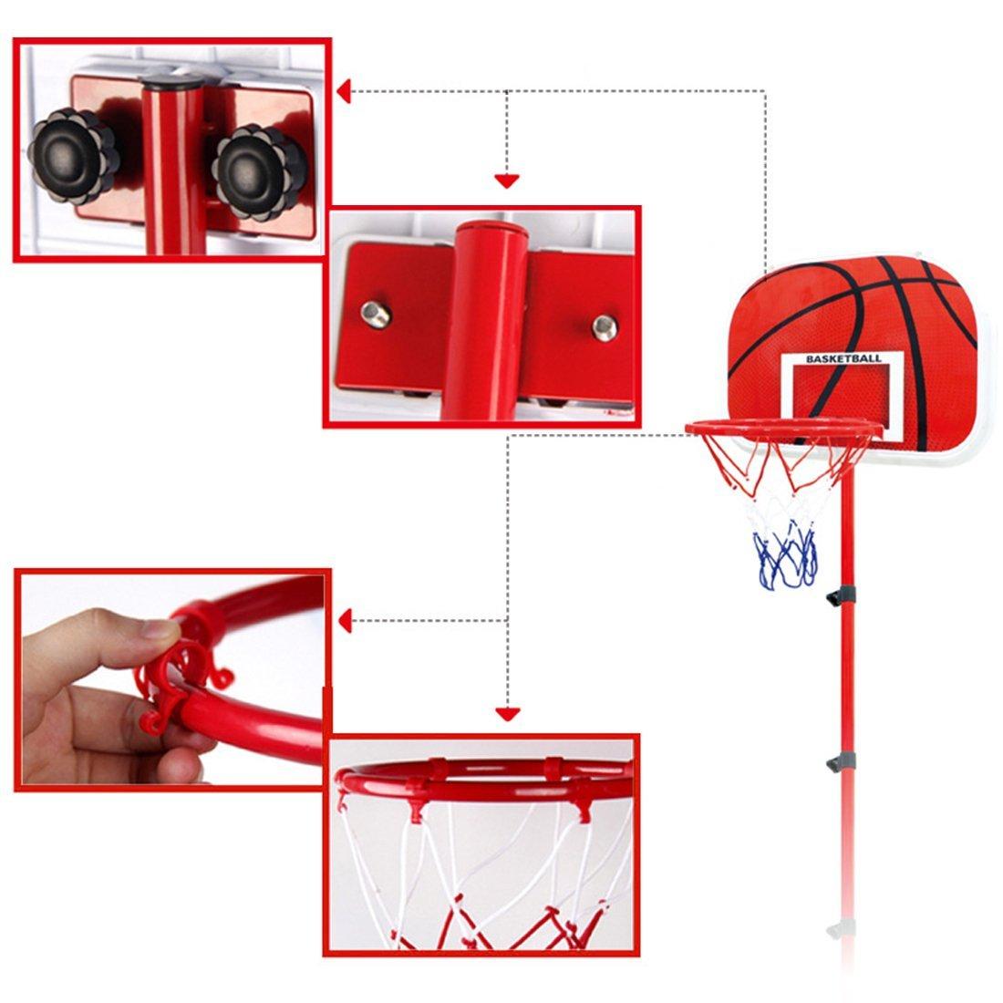 Ball und Pumpe 63-105 cm Basketballst/änder h/öhenverstellbare LVPY Basketballkorb Set inkl f/ür Kinder 3 Jahre