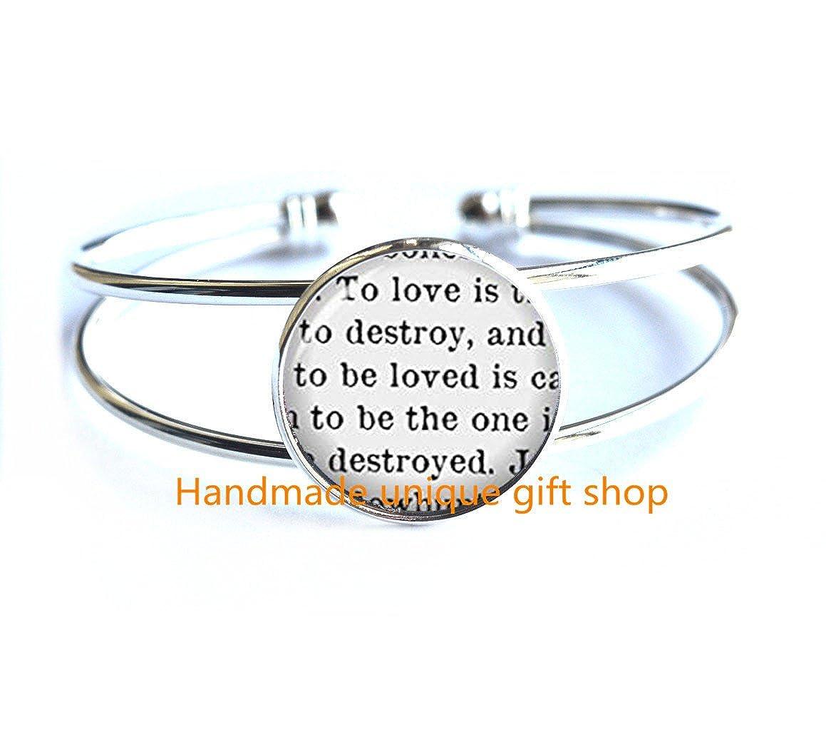 Modern Charm Bracelet Fashion Bracelet,To Love Is To Destroy Bracelet Jewelry Glass Cabochon Bracelet-RC298