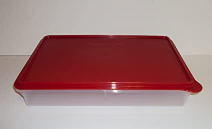 Tupperware Cold Cut Brownies Cookie Multi-purpose Keeper New RED & Amazon.com - Tupperware Cold Cut Brownies Cookie Multi-purpose ...