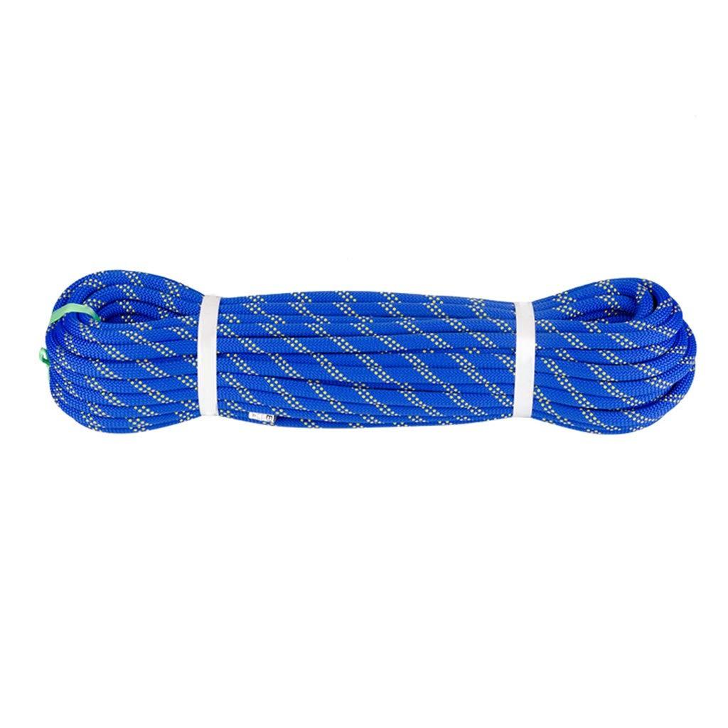 Bleu DLYDSS Corde d'escalade, Corde De Sécurité, 10,5 MM, Résistant à l'usure, Sauvetage, Travail Aérien, Chute Rapide 10m