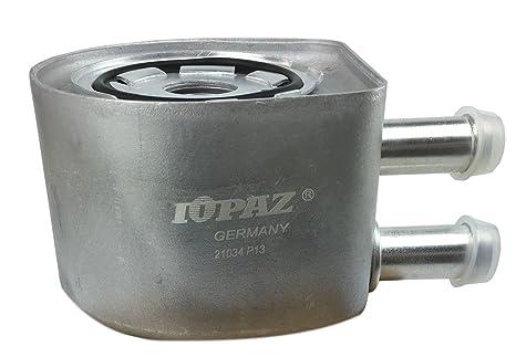 Topacio 2l3z6 a642ab enfriador de aceite del motor: Amazon ...