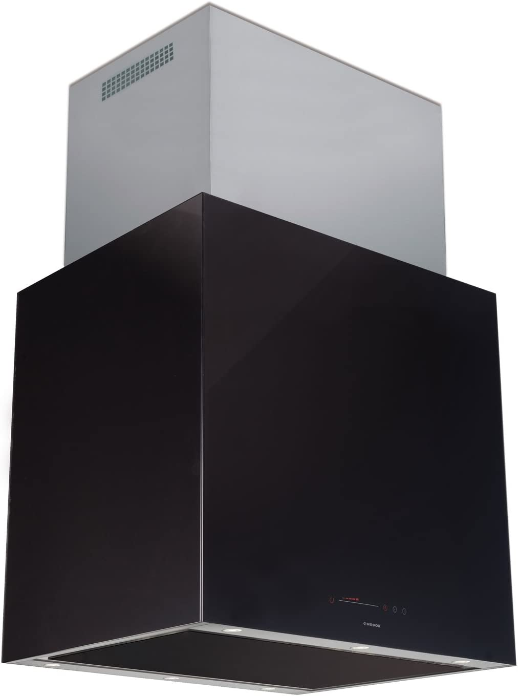 Nodor Isla Cube Glass Premium Isla Negro 740m³/h - Campana (740 m³/h, Canalizado, 33 dB, 59 dB, Isla, Negro): Amazon.es: Hogar