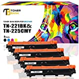 Toner Bank 4 PACKS Compatible for Brother TN221 TN225 TN-221 TN-225 Brother HL-3170CDW HL-3140CW MFC-9130CW MFC-9340CDW MFC-9330CDW HL-3150CDN MFC9340CDW MFC9130CW MFC9330CDW HL3170CDW