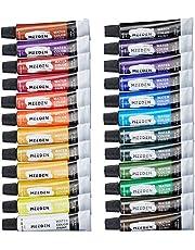 MEEDEN Watercolor Paint 24 Colors × 12ml, Art Watercolors Painting Kit for Artists/Students/Beginners, Rich Pigments/Vibrant/Non Toxic for Landscape Portrait Paintings on Canvas