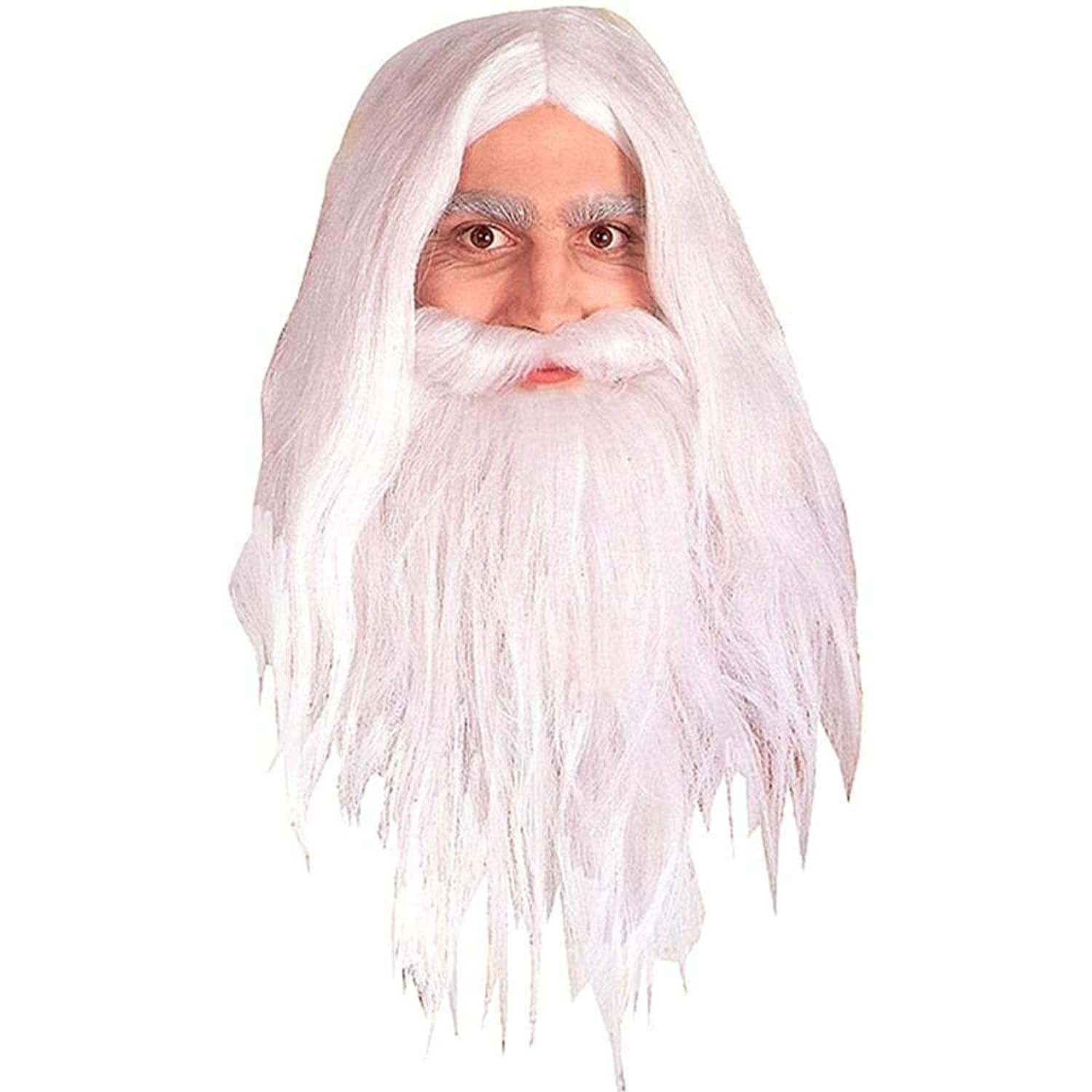 Rubie's Gandalf Wig And Beard White Cosplay Halloween