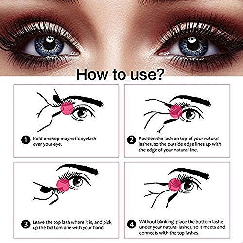 61doRpKPj8L Perfectostore 4x Magnetic Eyelashes [No Glue] Premium Magnet Quality False Eyelashes Set for Natural Look - Best Fake Lashes Extensions One Two Cosmetics 3D Reusable