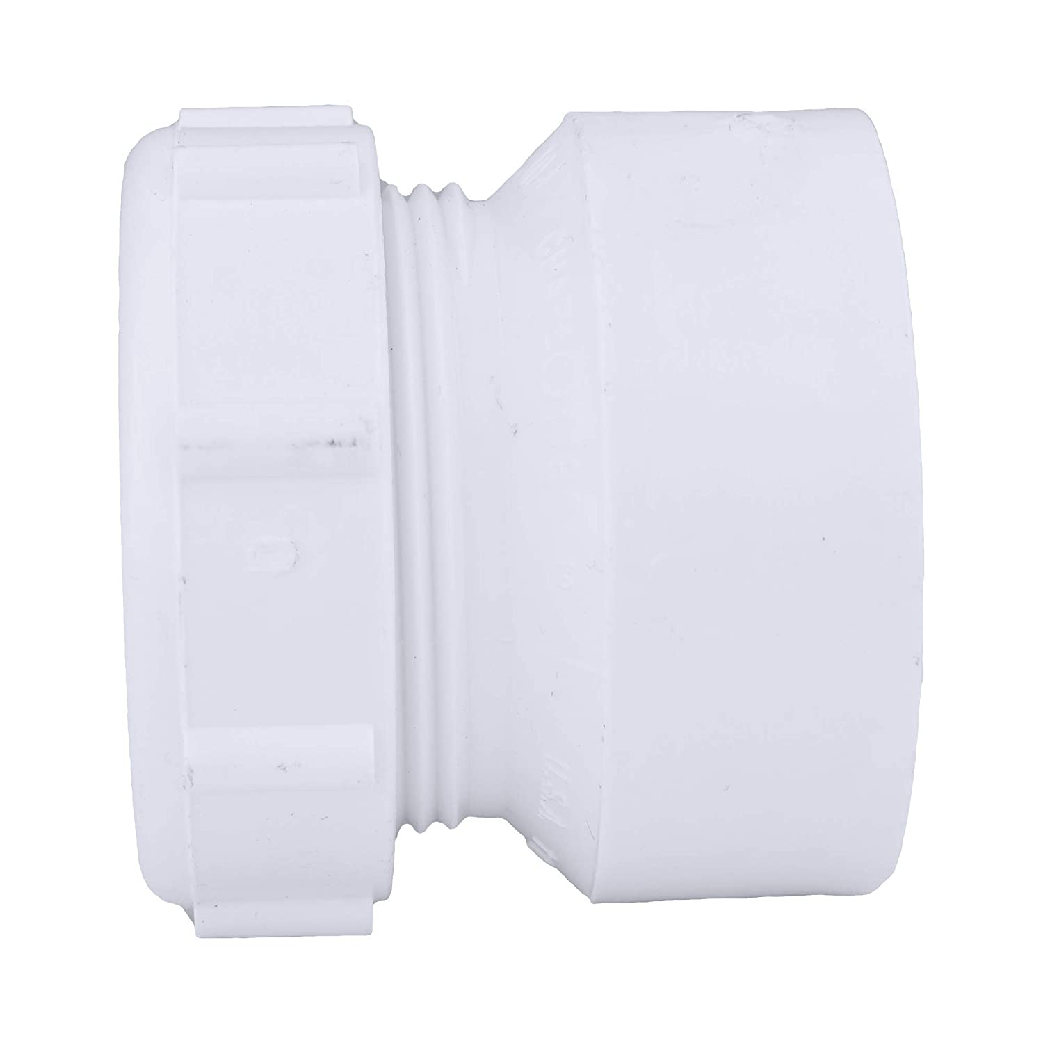 Charlotte Pipe 1-1//2 Hub x Tubular Slip Pipe Fitting 50 Unit Box Durable and Easy to Install for Home or Industrial Use Drain, Waste and Vent with Wash and Polynut Schedule 40 PVC DWV