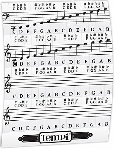 56 Piano pegatinas notas para teclado y Piano Música Práctica herramientas para músicos y pianista