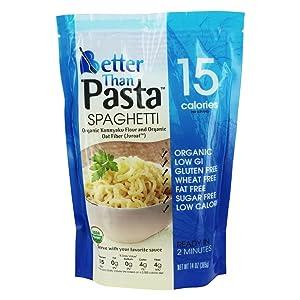 Better Than Organic Konnyaku Konjac Flour Food, 14 ounce (Pack of 6) (Spaghetti)