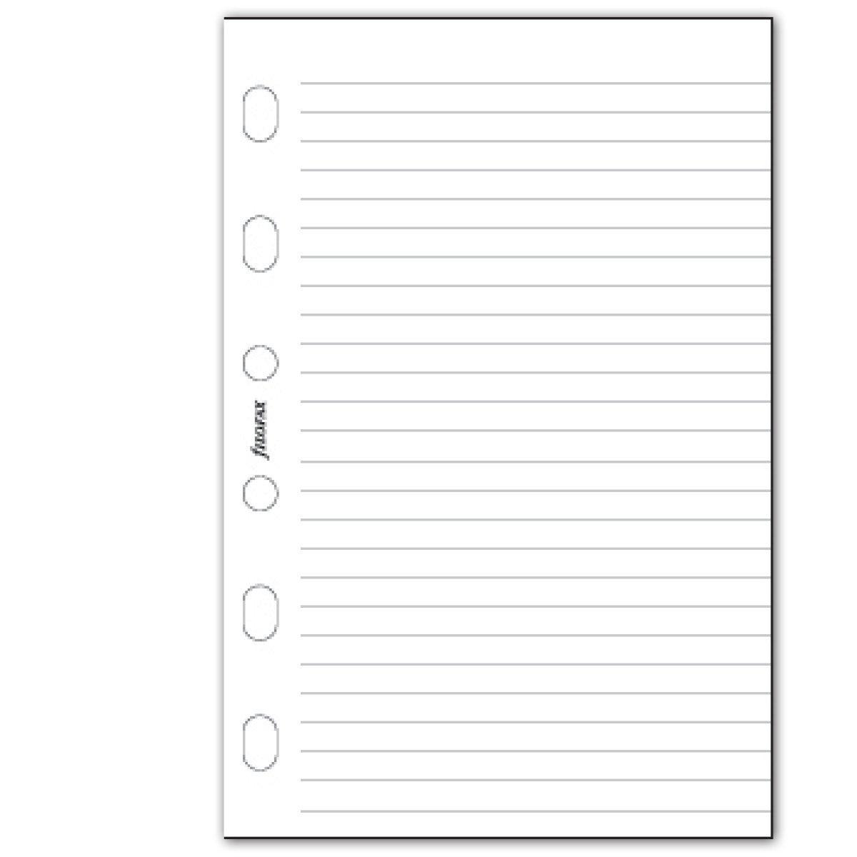 Filofax Pocket White Ruled Notepad