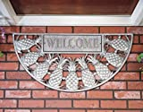 Pineapple Welcome Doormat Pewter Silver