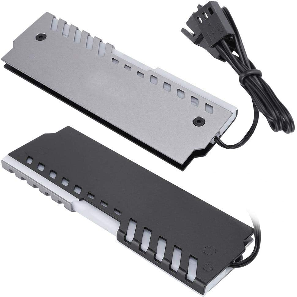 Aluminum Alloy 256 RGB Color Memory Cooling Vest 3PIN Memory RAM Cooler DDR Heatsink for Computer Water Cooling System S erounder Heat Sink Vest