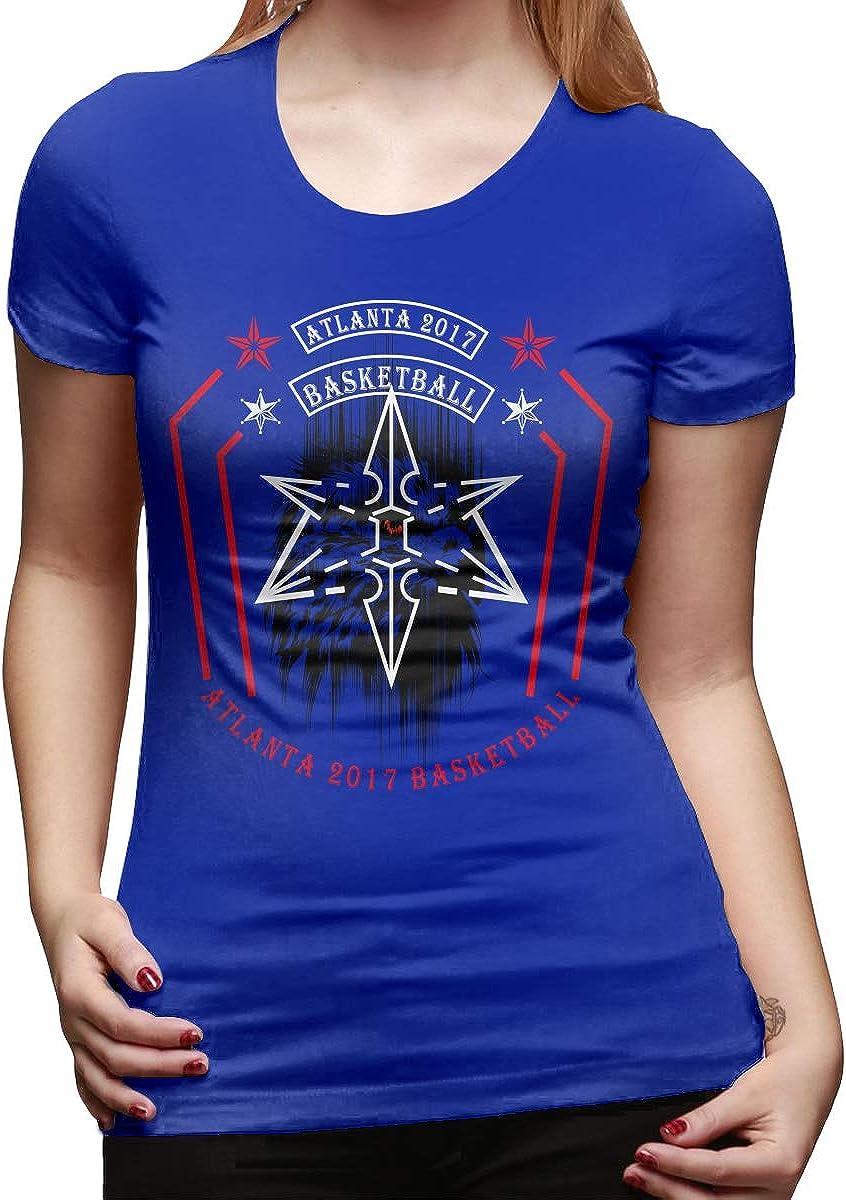 Women Atlanta 2017 Basketball Playoff Slogan T Shirt Summer Short Sleeve Tees Tops