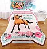 Spirit Dreamworks Riding Free Comforter and Sheets 4pc Bedding Set (Twin Size)
