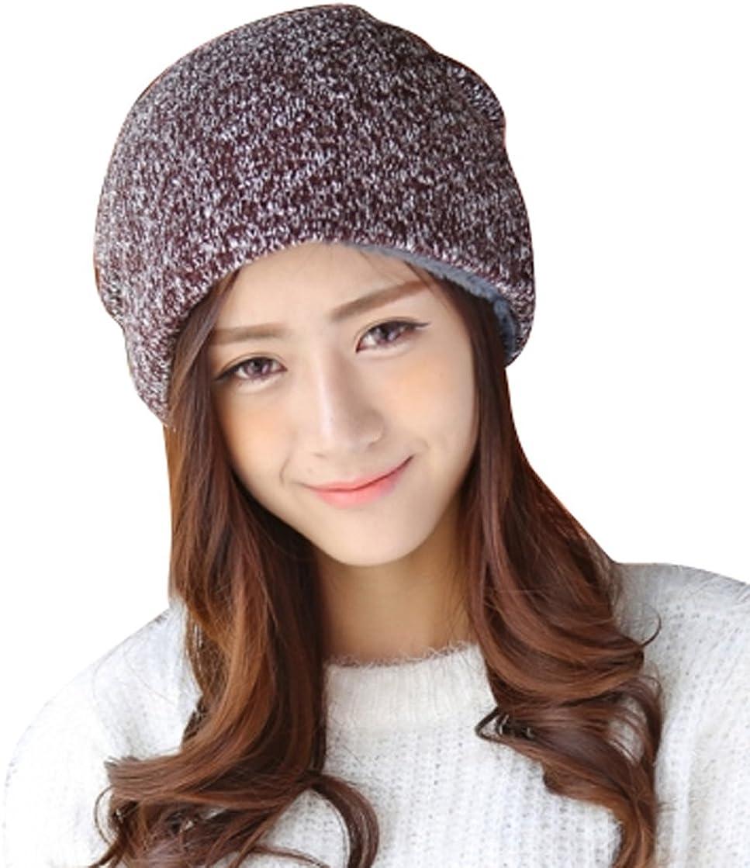 Navy Blue SHINA Fashionable Unisex Knit Cap Warm Comfortable Winter Skull Cap