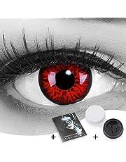Meralens 1 Paar farbige rote Crazy Fun red demon Jahres Kontaktlinsen.Topqualität zu Fasching und Karneval mit gratis Kontaktlinsenbehälter ohne Stärke!