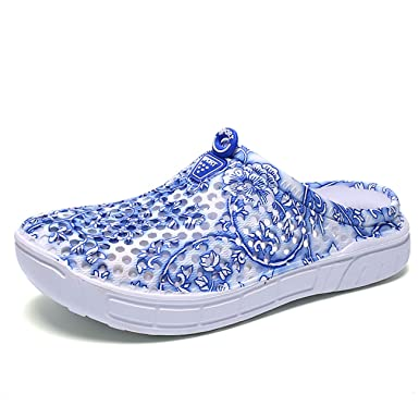 2ff1e5cbf063c9 Image Unavailable. Image not available for. Color: Puremee Womens  Breathable House Bath Slippers Lightweight Flower Beach Footwear Water  Shoes Sandal ...