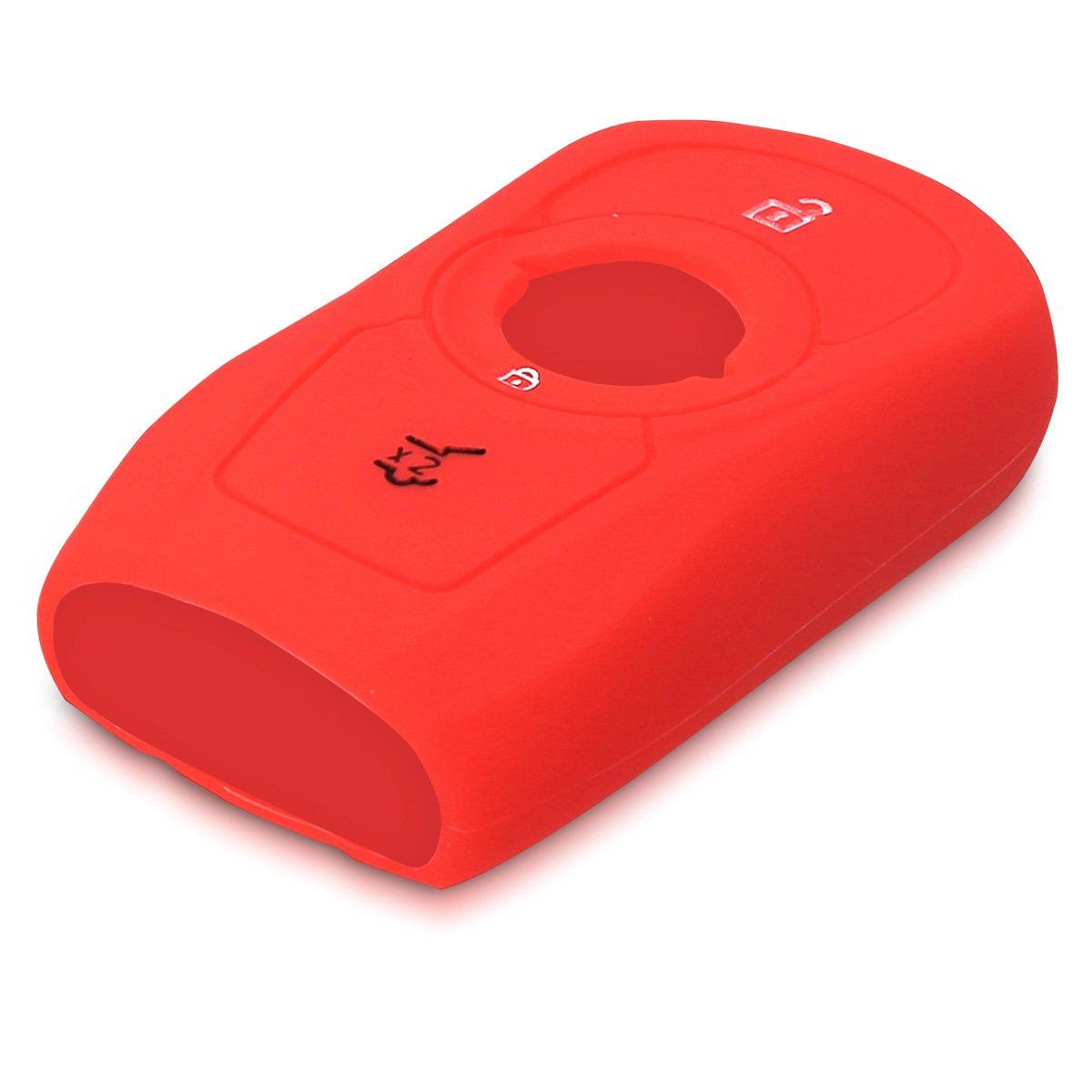 Keyless Go Uniquement kwmobile Accessoire cl/é de Voiture pour Opel Coque pour Clef de Voiture Smart Key Opel 3-Bouton en Silicone Noir /Étui de Protection Souple