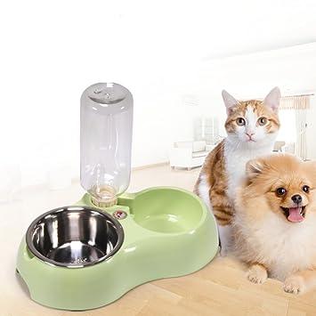 LA VIE 2 en 1 Comedero y Bebedero Extraíbles para Mascotas Perros Pequeños y Gatos Comedero