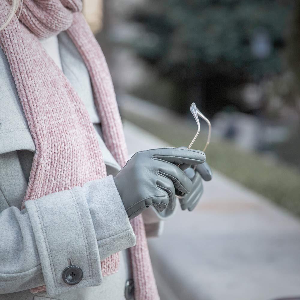 Gants Cuir Classique pour Femme avec Doublure en Cachemire Downholme