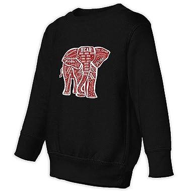 Elephant Unisex Toddler Hoodies Fleece Pull Over Sweatshirt for Boys Girls Kids Youth
