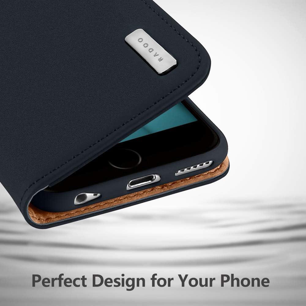 Coque iPhone 6S PLus en Cuir V/éritable,Etui iPhone 6 Plus,Radoo Housse Premium Fine en Cuir V/éritable avec Fermeture Magn/étique /& Fonction Stand /& Rangements Cartes pour Apple iPhone 6S//6 Plus Rouge
