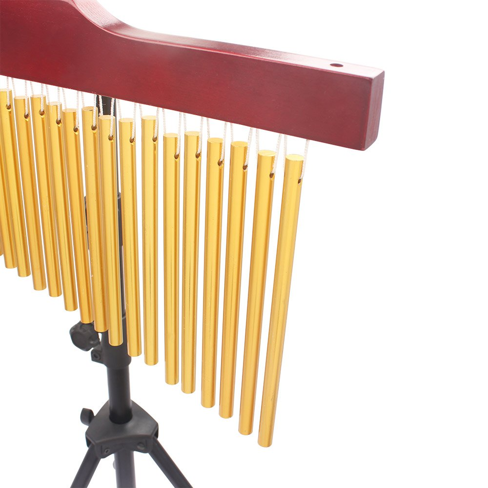 Musical Furniture Amazoncom Ammoon 36 Tone Golden Bar Chimes 36 Bars Single Row