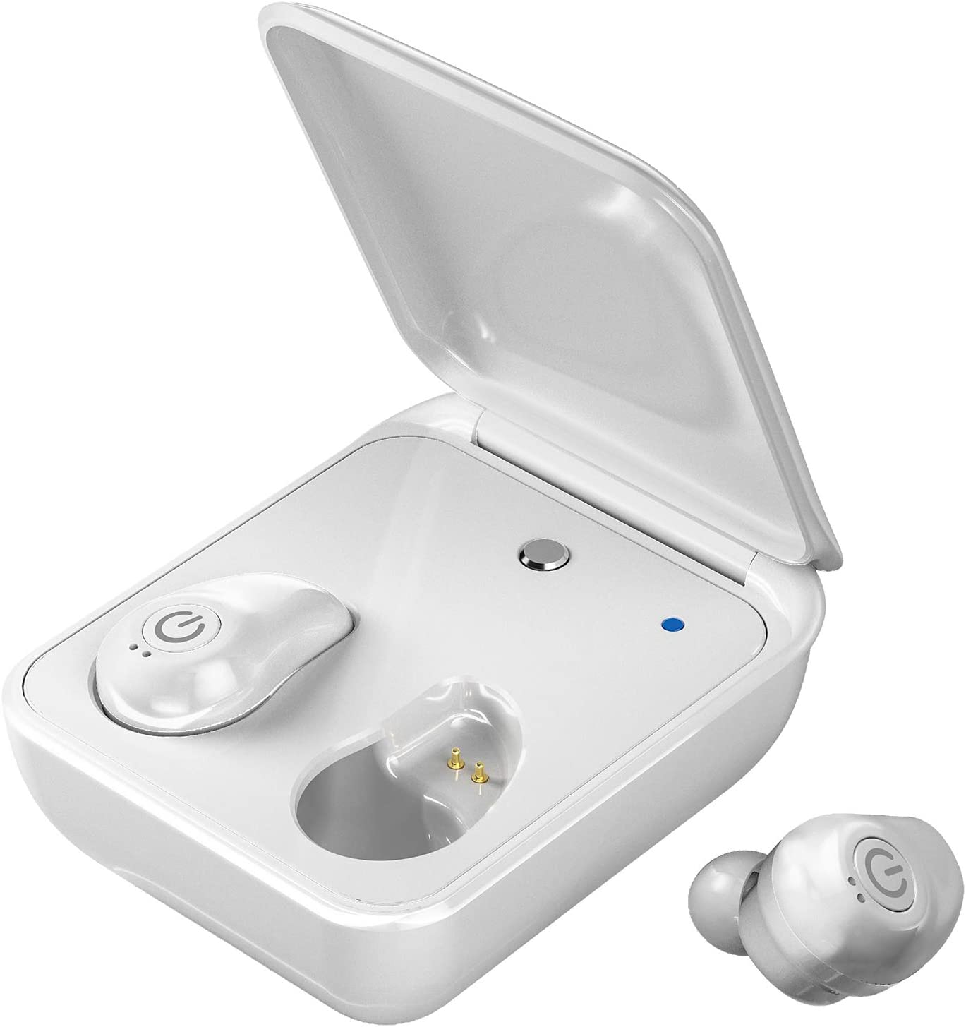 Wireless Bluetooth Earbuds Earteana Bluetooth 5.0 Cordless Headphone with Charging Case Dual Built-in Mic IPX7 Waterproof HD Stereo Sound.