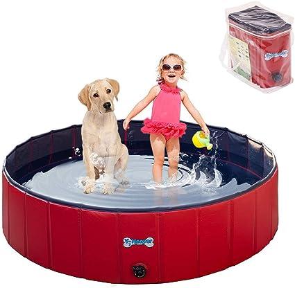 V-HANVER Foldable Dog Pool Hard Plastic