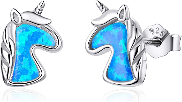 Girls Playing Cards Colorful Ear Studs 925 Sterling Silver