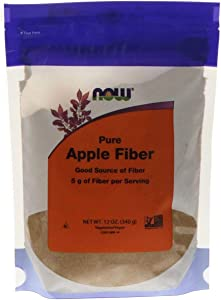 NOW Supplements, Pure Apple Fiber Powder with Apple Pectin, Non-GMO Project Verified, 12-Ounce